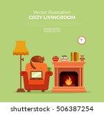 colorful vector cozy warm ... | Shutterstock .eps vector #506387254