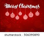 merry christmas banner. xmas... | Shutterstock .eps vector #506390890