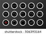 black and white media buttons... | Shutterstock .eps vector #506393164