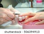closeup shot of a woman in a... | Shutterstock . vector #506394913