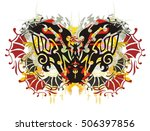colorful eagle butterfly.... | Shutterstock .eps vector #506397856