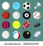 set of sport balls icons... | Shutterstock .eps vector #506402590