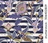 seamless paisley pattern. boho...   Shutterstock . vector #506402809