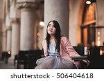beautiful asian girl model in... | Shutterstock . vector #506404618