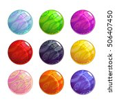 colorful glassy magic balls set ...