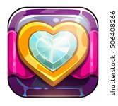 beautiful app icon with golden...