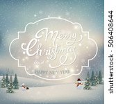 vintage merry christmas and... | Shutterstock .eps vector #506408644