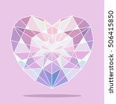 diamond purple heart. diamond...   Shutterstock . vector #506415850