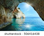 Sunshine In Blue Cave Arch Vie...