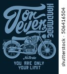 motorcycle graphic design for t ... | Shutterstock .eps vector #506416504