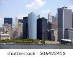 new york skyline  from staten... | Shutterstock . vector #506422453