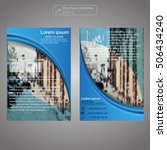 front and back page brochure... | Shutterstock .eps vector #506434240