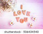 i love you  romantic background ... | Shutterstock . vector #506434540
