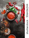 spicy chili sauce  ketchup | Shutterstock . vector #506436244