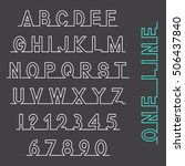 one line font  latin alphabet... | Shutterstock .eps vector #506437840