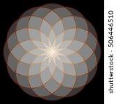 flower of life. sacred geometry.... | Shutterstock .eps vector #506446510
