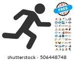 running man icon with bonus... | Shutterstock . vector #506448748
