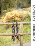 Small photo of Forest of Dean, United Kingdom - October 27, 2016: Go Ape Adventure. Found in a many of the national parks and local recreation grounds, Go Ape provides a stimulating obstacle course in the trees.
