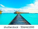 beautiful tropical maldives...   Shutterstock . vector #506461000