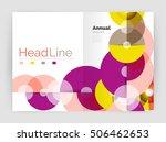 transparent circle composition... | Shutterstock .eps vector #506462653