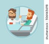 hipster doctor visiting male... | Shutterstock .eps vector #506465698