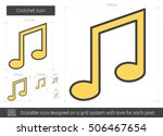 crotchet vector line icon... | Shutterstock .eps vector #506467654