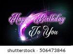 happy birthday greeting card... | Shutterstock . vector #506473846