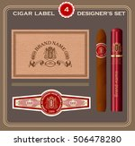 vintage cigar label set. design ... | Shutterstock .eps vector #506478280