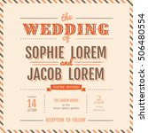wedding invitation vintage card ... | Shutterstock .eps vector #506480554