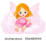 illustration of cute baby fairy  | Shutterstock .eps vector #506480944