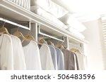 modern wooden wardrobe with... | Shutterstock . vector #506483596