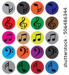 music symbols | Shutterstock .eps vector #506486344