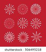 firework set. vector eps. 10 | Shutterstock .eps vector #506495218