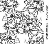 abstract elegance seamless... | Shutterstock .eps vector #506496004