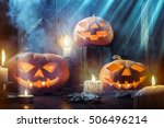 halloween background | Shutterstock . vector #506496214