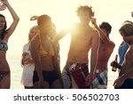 beach party freedom vacation... | Shutterstock . vector #506502703
