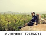 person traveler travel...   Shutterstock . vector #506502766
