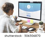 user account profile... | Shutterstock . vector #506506870