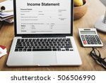 income statement employment... | Shutterstock . vector #506506990