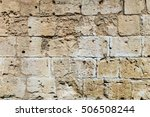 background of ancient  brick... | Shutterstock . vector #506508244