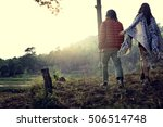 couple exploring trip holiday... | Shutterstock . vector #506514748