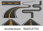 winding curved road or highway...   Shutterstock .eps vector #506515753