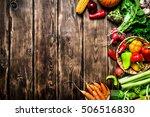 healthy food. organic... | Shutterstock . vector #506516830
