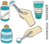 vector set of forcep  alcohol...   Shutterstock .eps vector #506535859