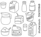 vector set of milk product | Shutterstock .eps vector #506535868
