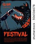 music poster template for rock... | Shutterstock .eps vector #506536078