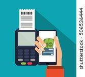 smartphone of payment online... | Shutterstock .eps vector #506536444
