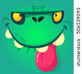 cartoon zombie face. vector... | Shutterstock .eps vector #506539093