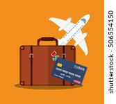 baggage of travel and tourism... | Shutterstock .eps vector #506554150