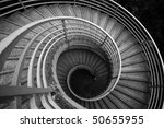 Spiraling Stairs  Black And...